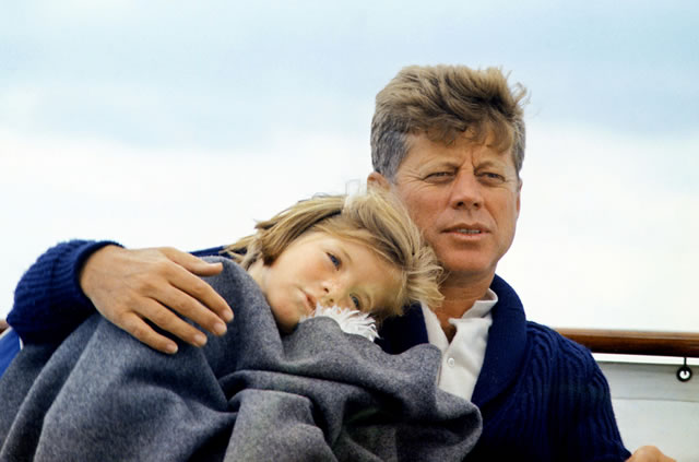 John F. Kennedy with his daughter Caroline.