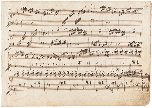 Sample of a Mozart musical manuscript that he completed prior to the age of 10. Seriously.