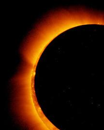 Annular eclipse of the Sun.