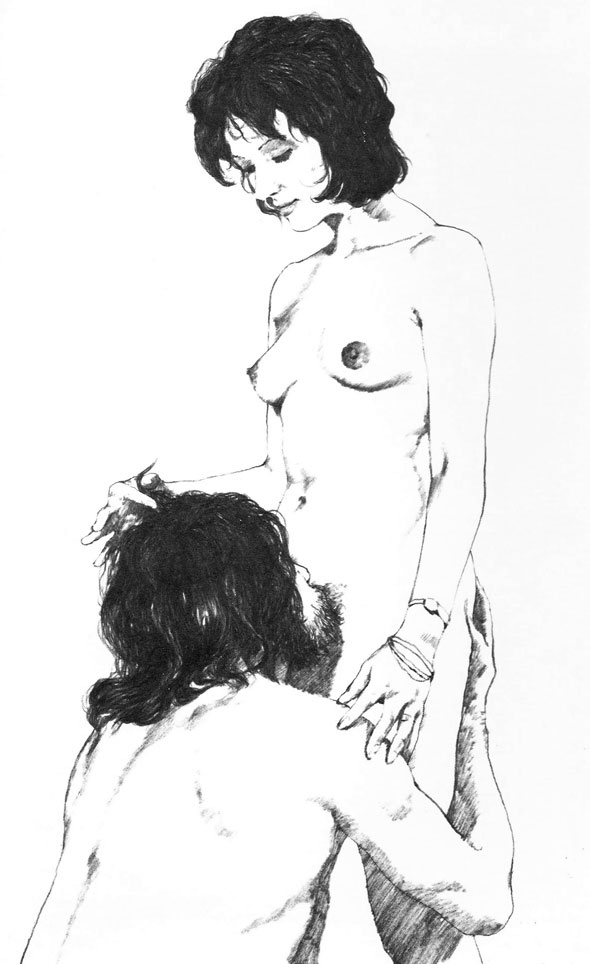 From The Joy of Sex by Alex Comfort, first edition, © 1972.