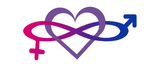 One of many icons designed to illustrate bisexuality. This one shows the inherently flexible nature of sexual orientation.