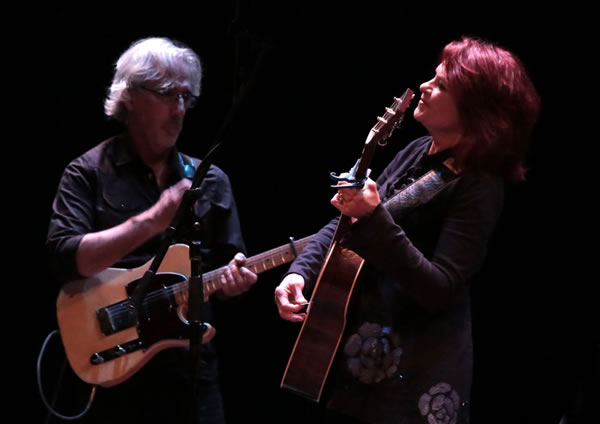 Rosanne Cash and her husband, friend and producer, John Leventhal performing at the Bardavon Opera House in late 2014. Photo by Eric Francis.