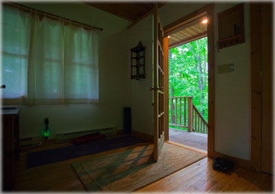 The open door of the Hermitage at Omega Institute. What door will you open? Your Libra Reading will have clues. Photo by Eric Francis.